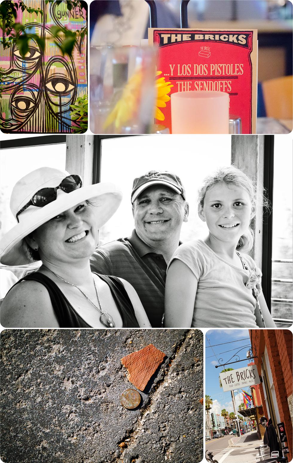 Collage Ybor City, trolley, Th  Bricks of Ybor