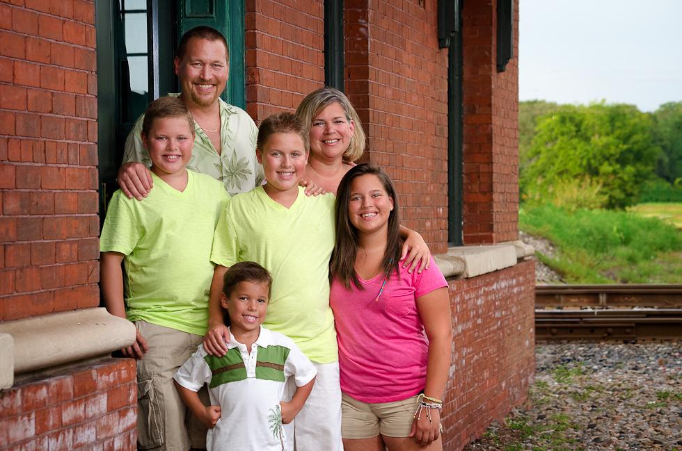 family at train depot Plant City