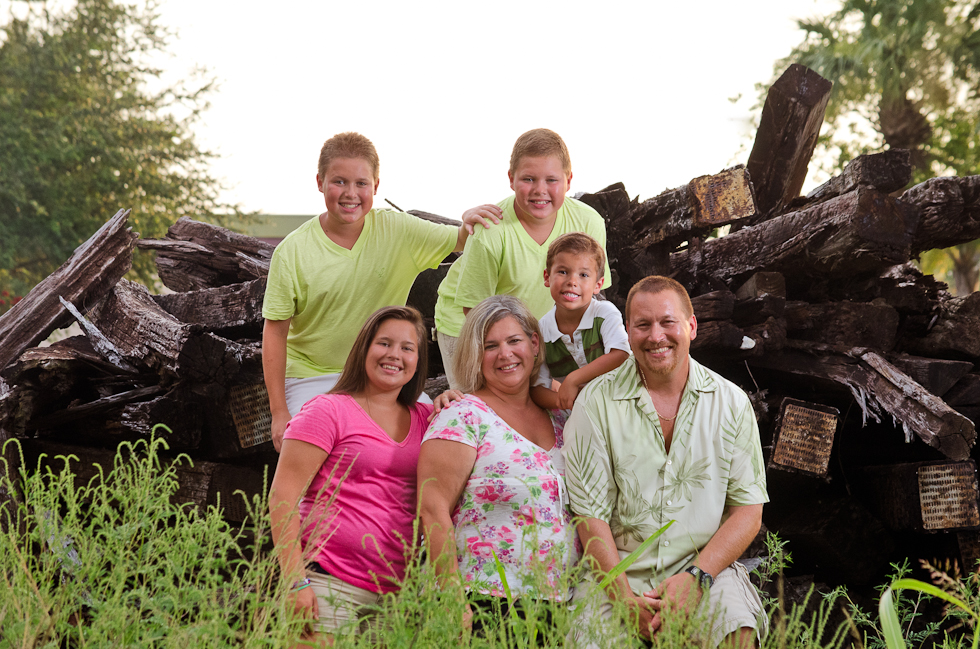 Family in field Plant City