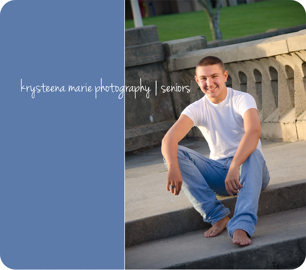 senior portraits guy casual tee barefoot lake