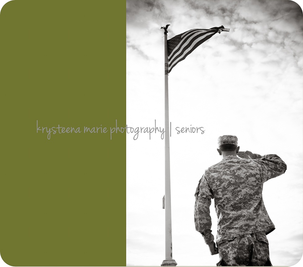 senior portrait guy ROTC salute flag plant city