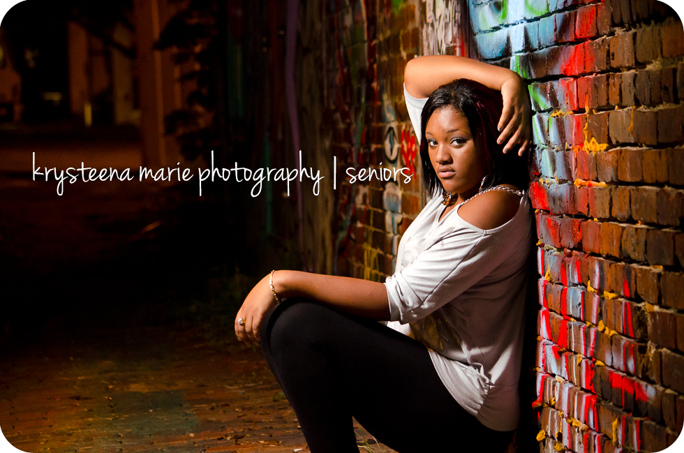 senior portraits girl in alley graffiti ybor city