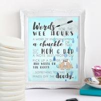 Words for the Wee Hours Printable Baby Shower Game Rain Cloud Sprinkle Instant Download Krysteena Marie Design