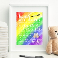 Words for the Wee Hours Printable Rainbow Baby Shower Game Instant Download Krysteena Marie Design