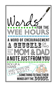 Delightful Words For Wee Hours For Little Man Theme Baby Shower [kmp]