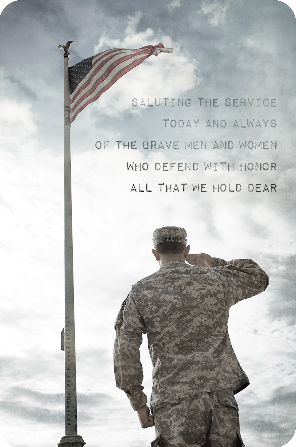 Saluting the service today and always of the brave men and women who defend with honor all we hold dear