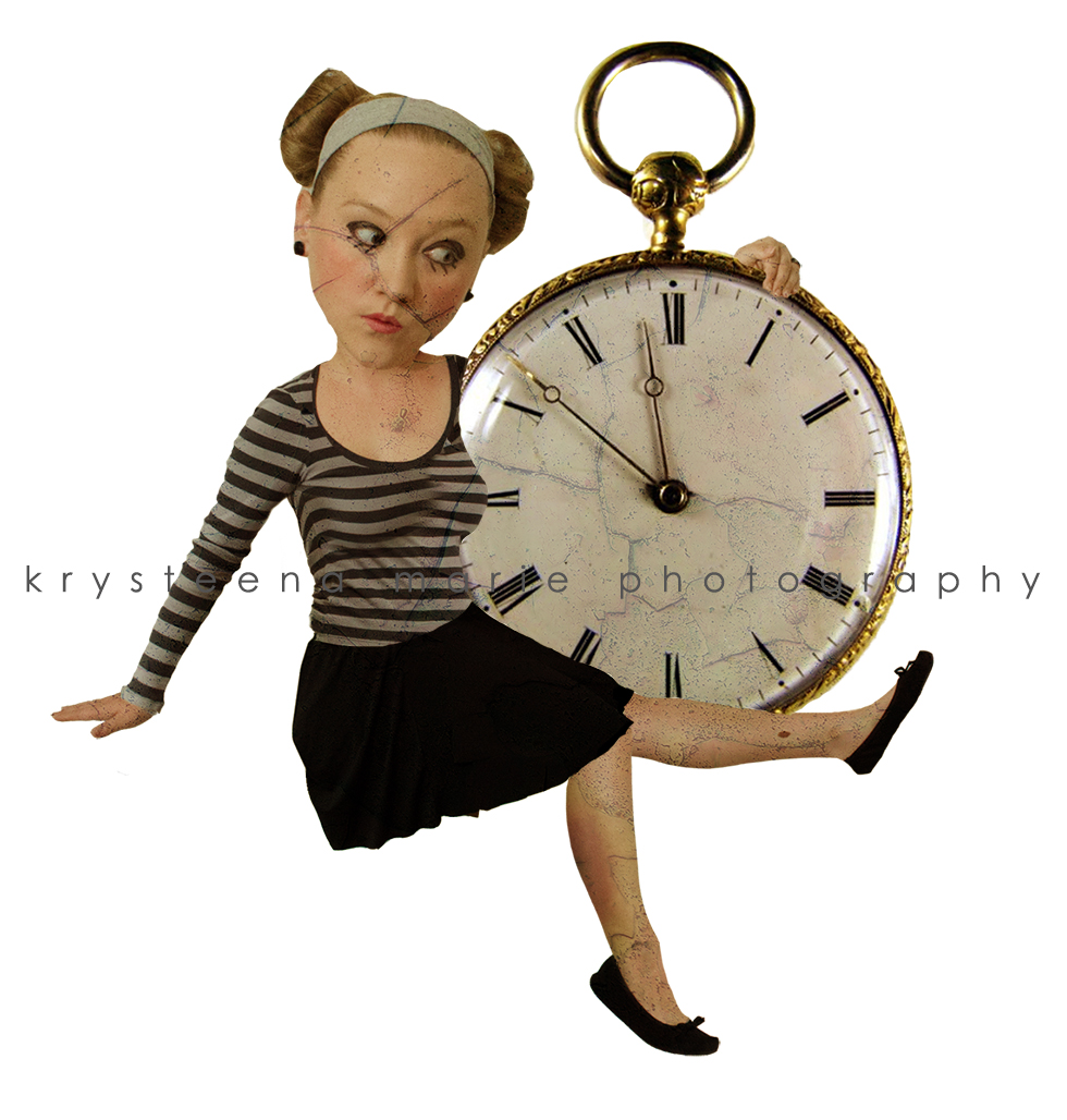 girl with pocket watch