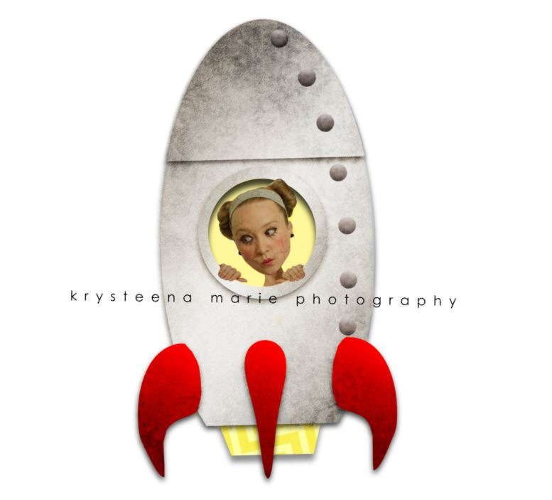 girl in a rocket ship