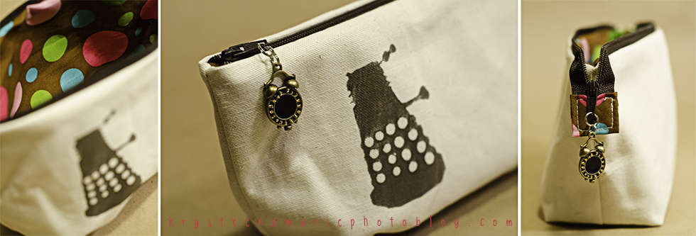 Doctor Who handmade dalek zipper pouch