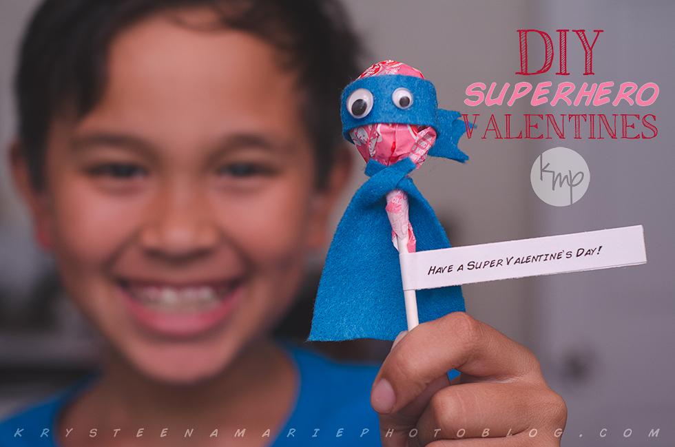 DIY Superhero Valentines | Krysteena Marie Photoblog