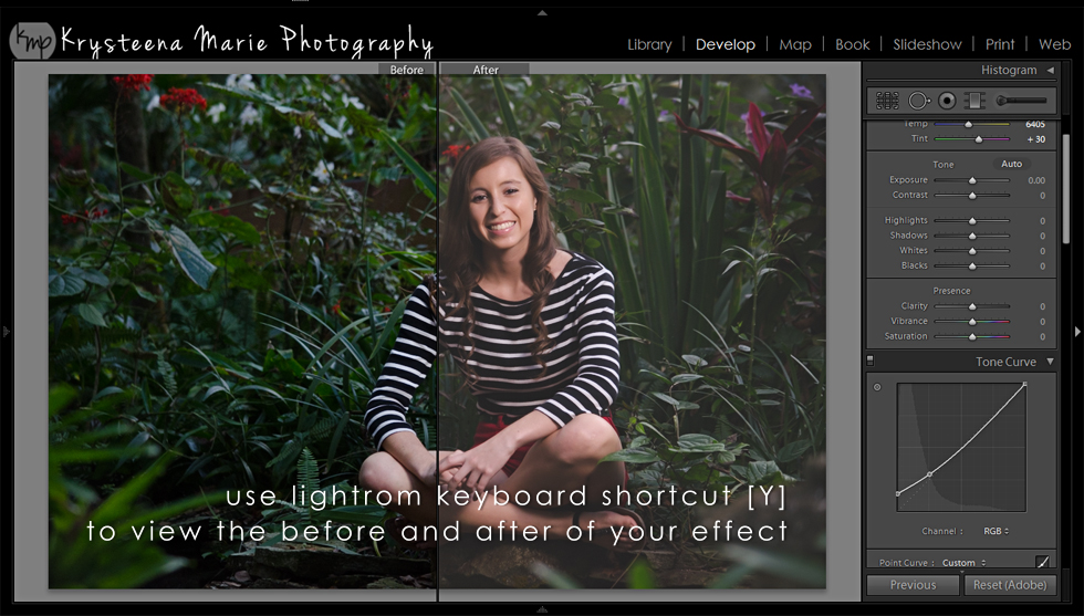 Lightroom Before & After Shortcut | Krysteena Marie Photography