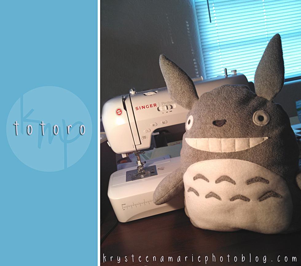 Totoro Plush | Krysteena Marie Photography
