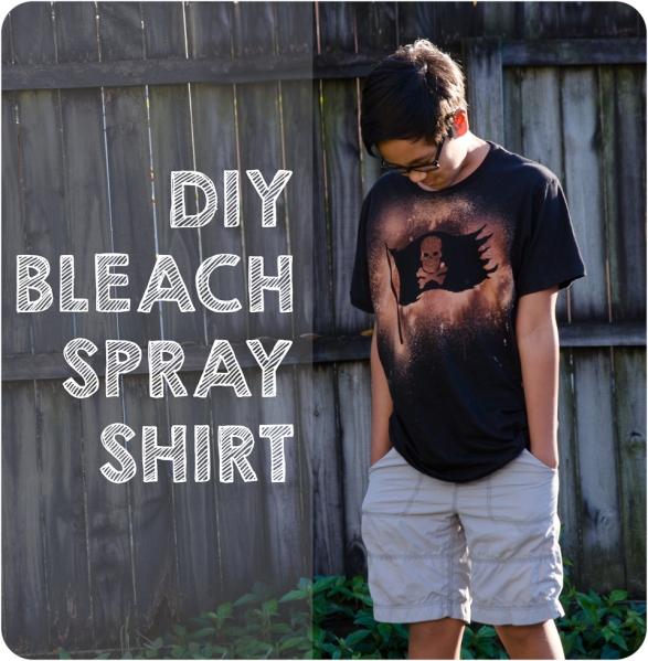 DIY Bleach spray pirate shirt for Gasparilla